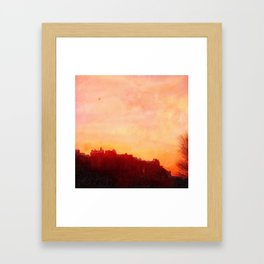Edinburgh Castle Sunset Framed Art Print