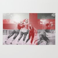 roller derby Area & Throw Rugs featuring Punchtuation Roller Derby by Vin Zzep