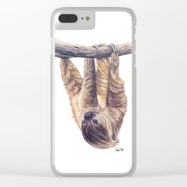 Wookie the Two-Toed Sloth Clear iPhone Case
