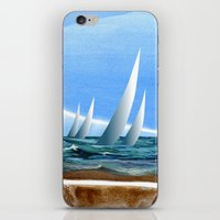 geology iPhone & iPod Skins featuring The Geology of Boating by Patricia Howitt