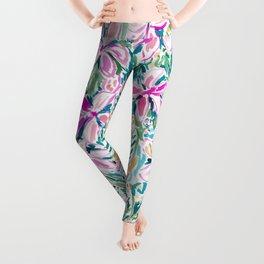 PLUMERIA PARADISE Tropical Floral Leggings