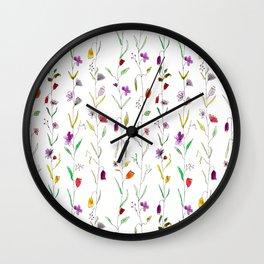 Floral pattern Wall Clock
