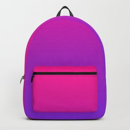 Plastic Pink Proton Purple Ombre Gradient Neon Pink Ultra Violet Pattern Backpack