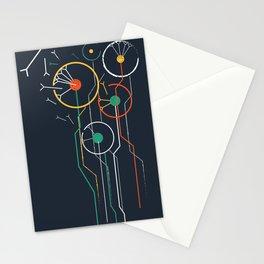 Geometric dandelion flower print  Stationery Cards