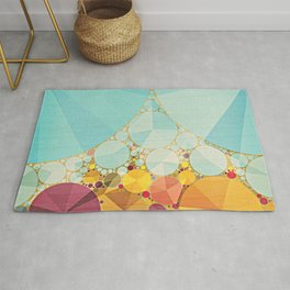 Travelling Show Abstract Circus Carnival Tent Rug