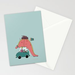 Dino on the move Stationery Cards