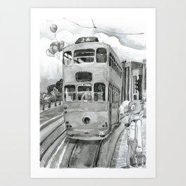 { 未來惑星 } Tramcar Art Print
