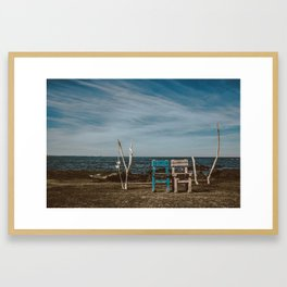 Love Chairs | Udo Framed Art Print