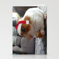 hamster Stationery Cards featuring Christmas Hamster by VHS Photography