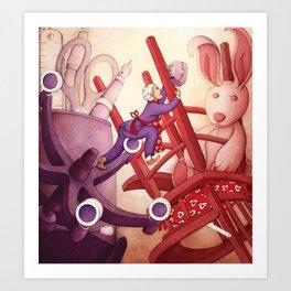 A Precarious Balance between Career and Family Art Print