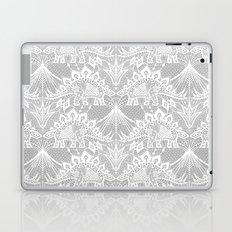 Stegosaurus Lace - White / Silver Laptop & iPad Skin