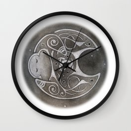 Norse Moon Wall Clock