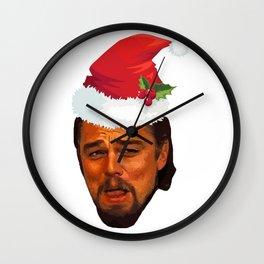 Leonardo DiCaprio laughing django unchained calvin candie meme Funny Christmas gift idea Wall Clock