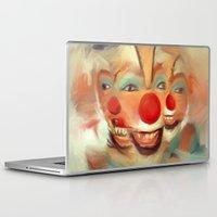 clown Laptop & iPad Skins featuring clown by robotrake