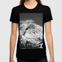 Mt. Blanc with cloud (Mono) T-shirt