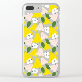 Bella #illustration #floral #pattern Clear iPhone Case