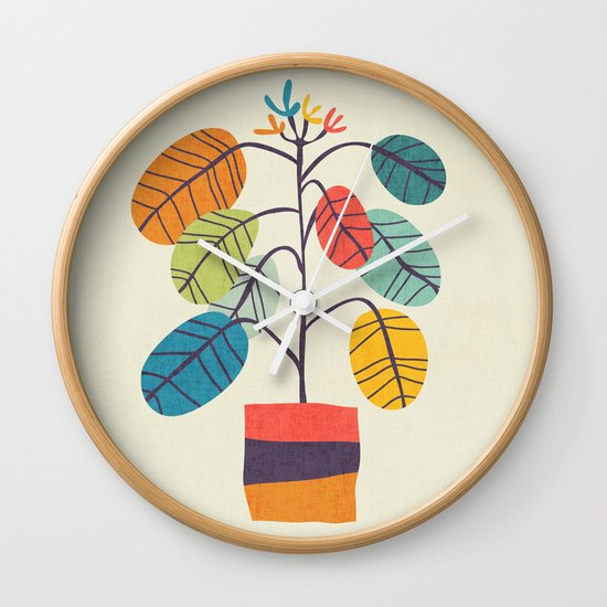 Potted plant 2 Wall Clock