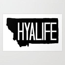 Hyalife Montana Tall  Art Print