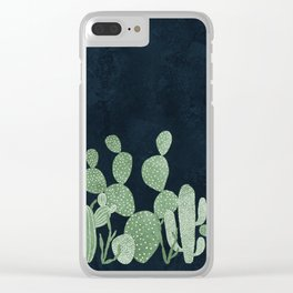 Green cactus garden Clear iPhone Case