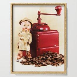Coffee man 3 Serving Tray