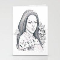 alex vause Stationery Cards featuring Alex Vause by Melina Espinoza
