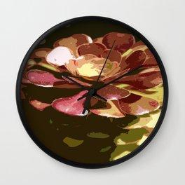 Red Sedum Wall Clock