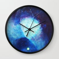 constellation Wall Clocks featuring constellation by Oana Popan