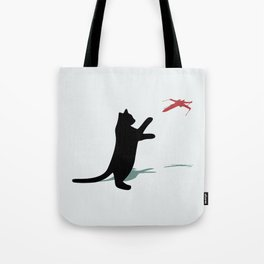 Cat and X-Wing Tote Bag