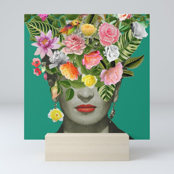 Frida Floral Mini Art Print