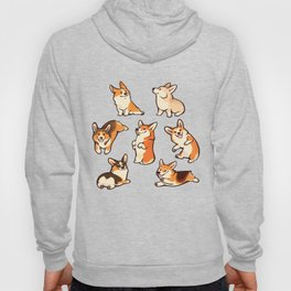 Lovey corgis in pink Hoody