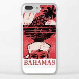The Bahamas - Vintage Travel Poster Clear iPhone Case