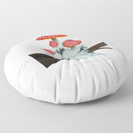 amanita muscaria with children Floor Pillow