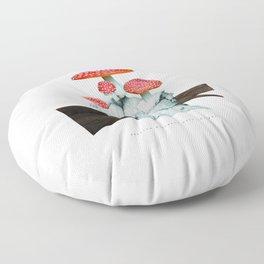 amanita muscaria with children Floor Pillow