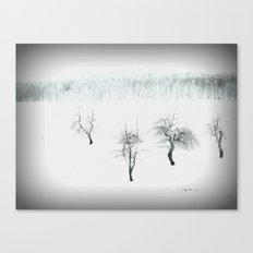 Bare bones in Winter Canvas Print