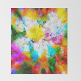 Florescence Throw Blanket