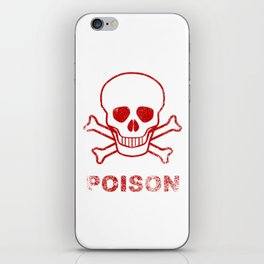 Poison Red Ink Stamp iPhone Skin