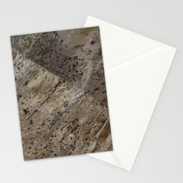 Beautiful natural abstract texture of mountain in an arid scenery Stationery Cards