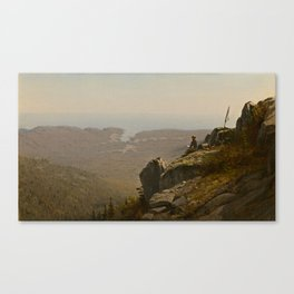 The Artist Sketching at Mount Desert, Maine Canvas Print