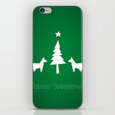 Christmas foxes iPhone & iPod Skin