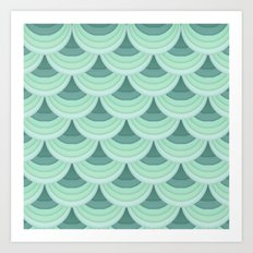 Ocean Fan Tail. Art Print