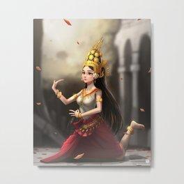 Apsara Dancer Metal Print