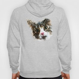 cat for real watercolor mix Hoody