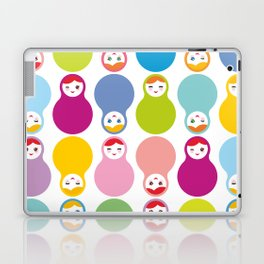 dolls matryoshka on white background Laptop & iPad Skin