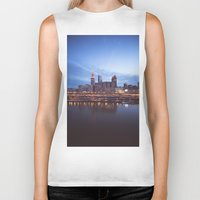 cleveland Biker Tanks featuring Daybreak in Cleveland by Jeffrey Stroup