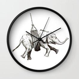 Snug Elephant Wall Clock