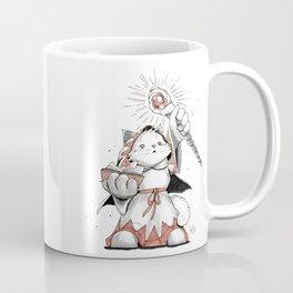 White Mage Munchkin Cat Coffee Mug