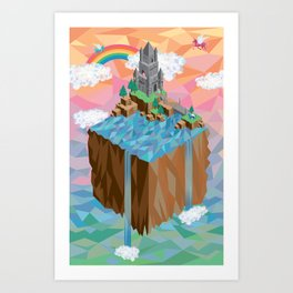 Isometric Castle Art Print