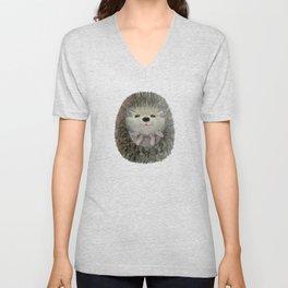 Cute Baby Hedgehog Unisex V-Neck