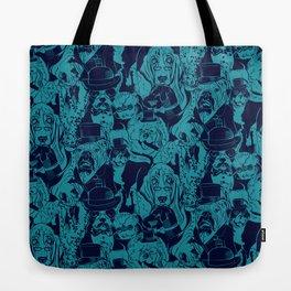 Dapper Dog_Teal Tote Bag