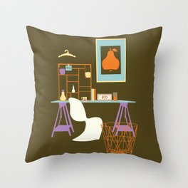simple drawing interior Throw Pillow